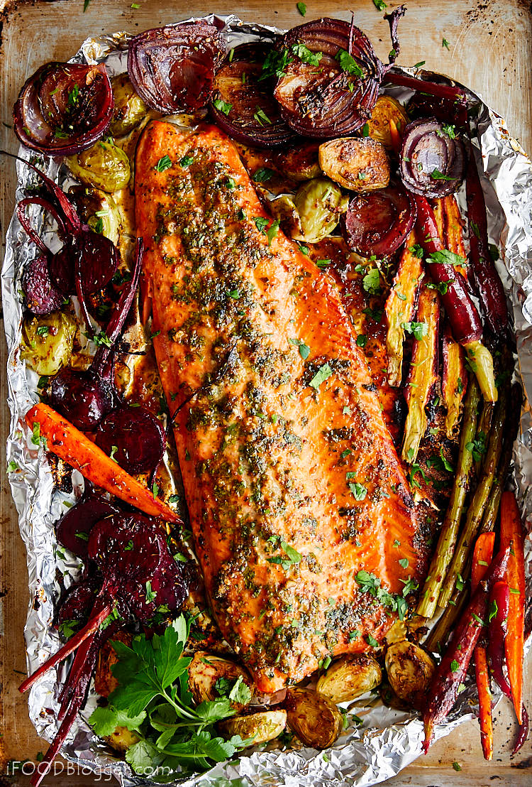 Baked Honey Garlic Steelhead Trout I Food Blogger
