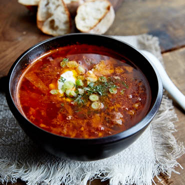 Traditional Ukraininan Borsch (Борщ)