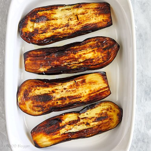 Fried Eggplant with Rice and Tomatoes - Step -1 - Fry Eggplant | ifoodblogger.com