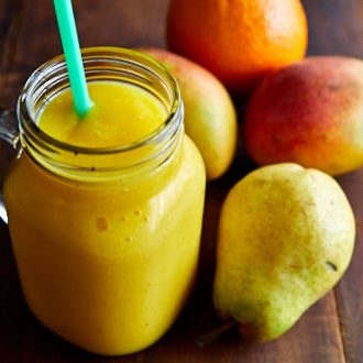 Mango, Orange and Pear Smoothie