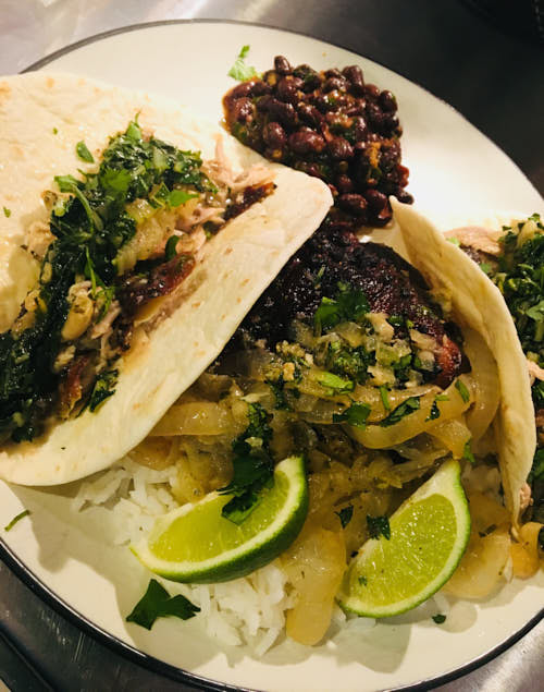 Mojito Chicken Thighs Tacos