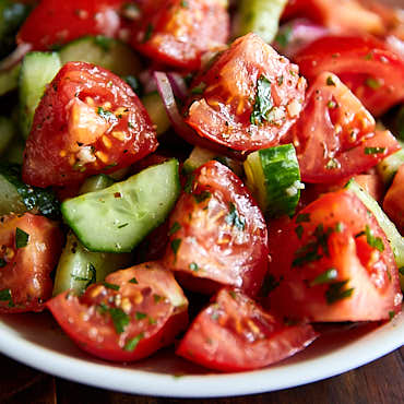 Juicy Tomato and Cucumber Salad