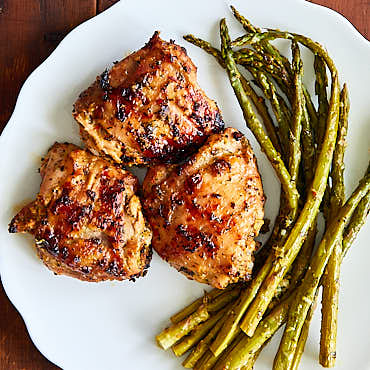 Succulent Grilled Skin-On Chicken Thighs