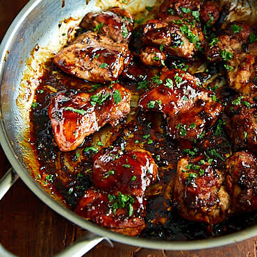 Honey Pomegranate Boneless Chicken Thighs