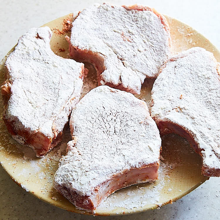 Southern Fried Pork Chops - Step 3 - Set the pork cops aside | ifoodblogger.com