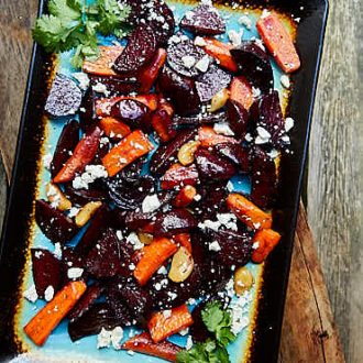 Roasted Beets and Carrots with Feta   ifoodblogger.com