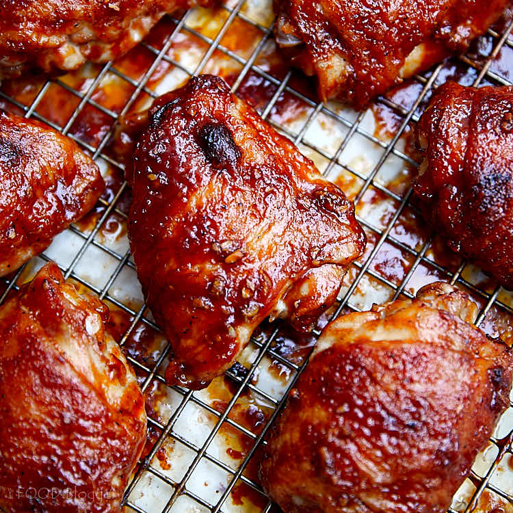 Baked BBQ Chicken Wings - Step 5 - bake on convection for 10 more minutes until the sauce sets and slightly chars.